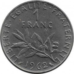 FRANCE 1 FRANC ROTY 1962 SUP