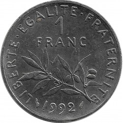 FRANCE 1 FRANC ROTY 1992 SUP