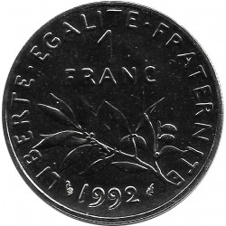 FRANCE 1 FRANC ROTY 1992 FRAPPE MEDAILLE SUP/NC