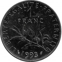 FRANCE 1 FRANC ROTY 1993 FRAPPE MEDAILLE SUP/NC