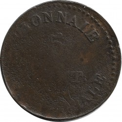 FRANCE 5 CENTIMES SIEGE D ANVERS 1814 B+ G129b