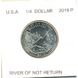 AMERIQUE ( U.S.A ) 1/4 DOLLAR 2019 P RIVER OF NOT RETURN SUP