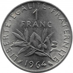 FRANCE 1 FRANC ROTY 1964 SUP+