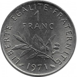 FRANCE 1 FRANC ROTY 1971 SUP+