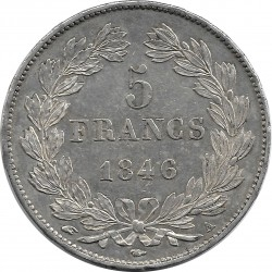 FRANCE 5 FRANCS LOUIS-PHILIPPE I 1846 A (Paris) SUP-