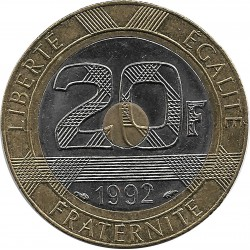 FRANCE 20 FRANCS MONT ST MICHEL 1992 V ouvert SUP-
