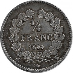 FRANCE 1/4 FRANC LOUIS PHILIPPE 1844 W (Lille) SUP-