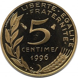 FRANCE 5 CENTIMES LAGRIFFOUL 1996 4 plis BE