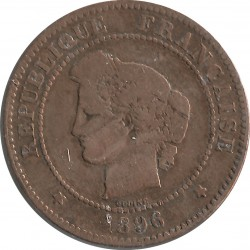 FRANCE 5 CENTIMES CERES 1896 A TORCHE TB