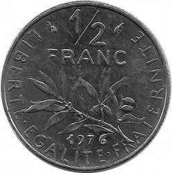 FRANCE 1/2 FRANC ROTY 1976 SUP-