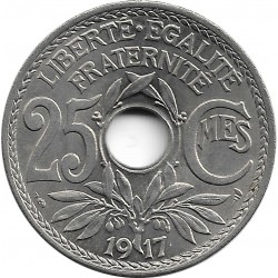 FRANCE 25 CENTIMES LINDAUER 1917 SUP/NC