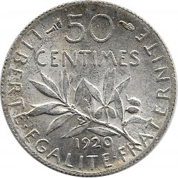 FRANCE 50 CENTIMES ROTY 1920 SUP