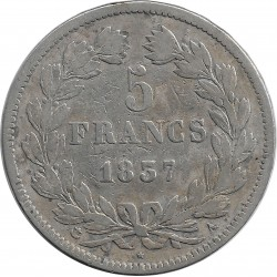 FRANCE 5 FRANCS LOUIS-PHILIPPE I 1837 W (Lille) TB
