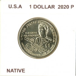 AMERIQUE ( U.S.A ) 1 DOLLAR 2020 P NATIVE SUP