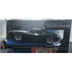 PLYMOUTH BARRACUDA FAST&FURIOUS LETTY S 1/24 1:24