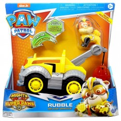 PAW PATROL MIGHTY PUPS SUPER PAWS RUBBLE deLuxe Véhicle de chez SPIN MASTER NEUF
