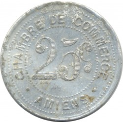 80 SOMMES - AMIENS 25 CENTIMES 1920 TTB