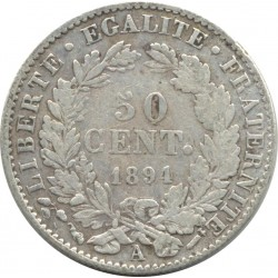 FRANCE 50 CENTIMES CERES 1894 A (Paris) TB+