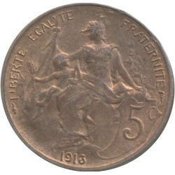 FRANCE 5 CENTIMES DUPUIS 1913 SUP