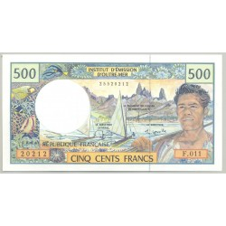 INSTITUT D'EMISSION D'OUTRE-MER 500 FRANCS NON DATE (1992) SERIE F011 NEUF
