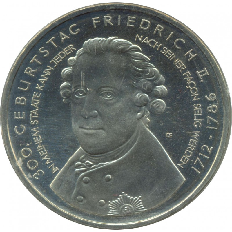 Allemagne 2012 A 10 EURO 300 ANS FREDERIC LE GRAND BE