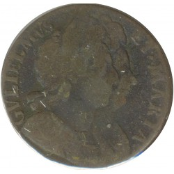 GRANDE BRETAGNE 1/2 PENNY WILLIAM ET MARY 1694 B+