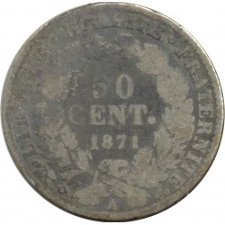 FRANCE 50 CENTIMES CERES 1871 A (Paris) B