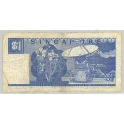 SINGAPOUR 1 DOLLAR NON DATE (1987) SERIE A67 TB+