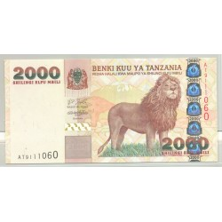 TANZANIE 2000 SHILLINGS NON DATE (2003) SERIE AT NEUF