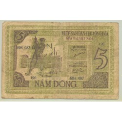VIET NAM 5 DONG NON DATE (1946) SERIE N TB
