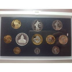 FRANCE 2000 COFFRET BE Belle Epreuve SERIE 11 Monnaies 1 centime à 100 Francs