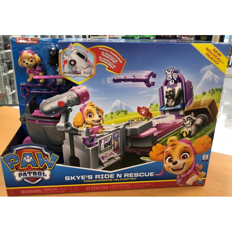 PAW PATROL SKIE S  RIDE N RESCUE HELICOPTERE TRANSFORMABLE de chez SPIN MASTER NEUF