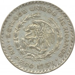 MEXIQUE 1 PESO 1963 TB+